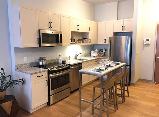 Bell Olmsted Park apartments kitchen
