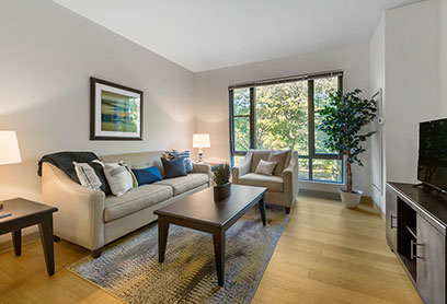 Bell Olmsted Park apartments living room